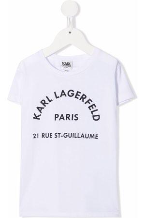 Karl Lagerfeld Kids Logo-print short-sleeved T-shirt