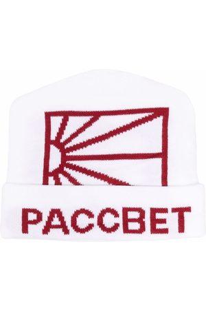 PACCBET Logo intarsia knitted beanie