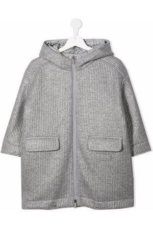 Il Gufo Textured zip-up coat - Grey