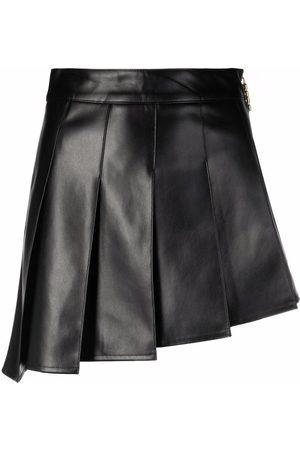 Gcds Asymmetric pleat mini skirt