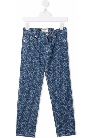 Kenzo Kids Abstract-print slim-fit jeans