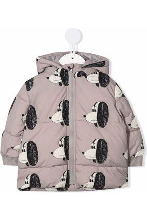 Bobo Choses Doggie-print puffer jacket - Grey