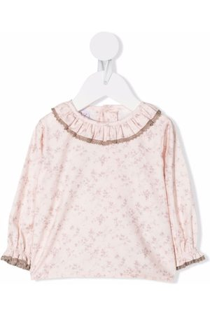 Paz Rodriguez Floral-print ruffled blouse