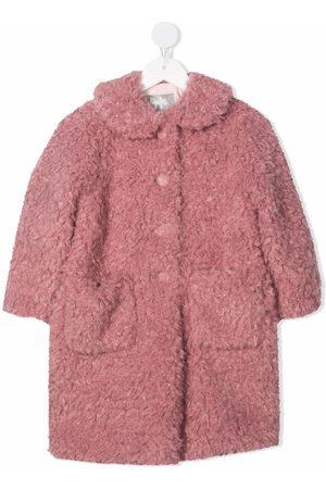 Il Gufo Girls Coats - Faux-shearling mid-length coat