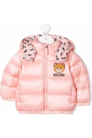 Moschino Kids Teddy logo padded jacket