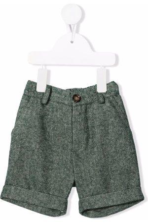 Mariella Ferrari Shorts - Chevron-knit knee-length shorts