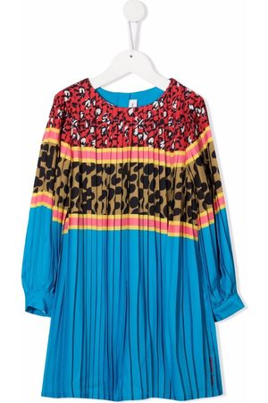 The Marc Jacobs Kids Girls Printed Dresses - Multi-print panelled pleated dress