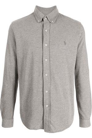 Polo Ralph Lauren Men Long sleeves - Featherweight mesh long-sleeve shirt - Grey