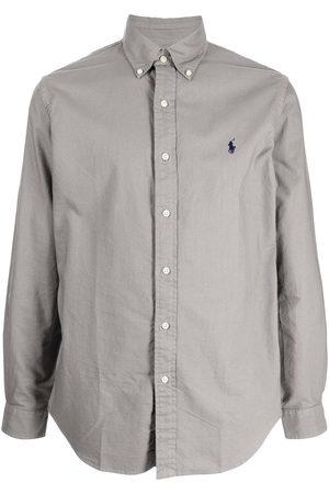 Polo Ralph Lauren Men Long sleeves - Long-sleeve Oxford shirt - Grey