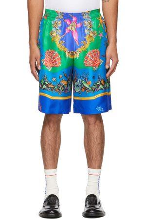 Versace Men Shorts - Multicolor Silk Trésor De La Mer Shorts