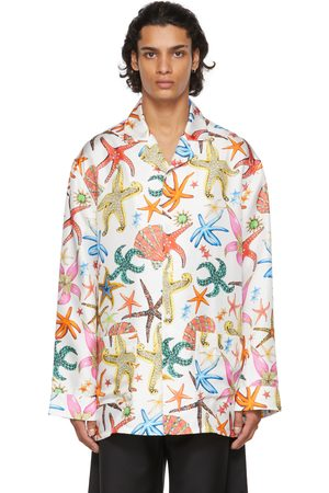 VERSACE Men Pajamas - White Trésor De La Mer Pyjama Shirt