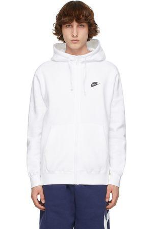 Nike Men Hoodies - White NSW Fleece Club Hoodie