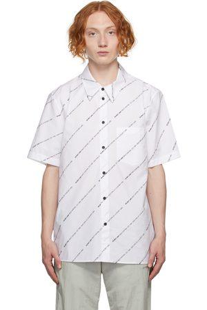 Helmut Lang Men Short sleeves - White Logo Short Sleeve Shirt