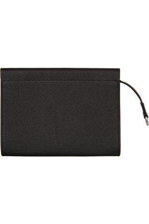 Maison Margiela Men Wallets - Black Calfskin Pouch Wallet
