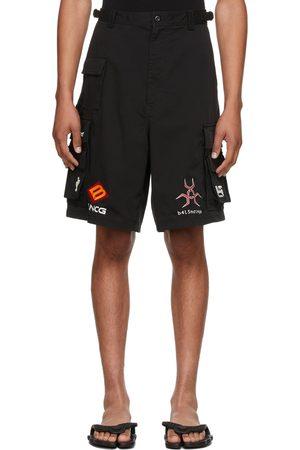 Balenciaga Men Shorts - Black Gamer Shorts