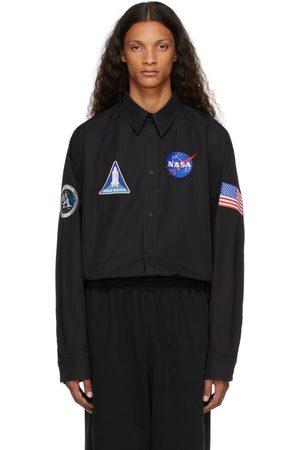 Balenciaga Men Shirts - Black Space Shirt