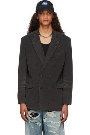 Balenciaga Black Slim Worn-Out Blazer