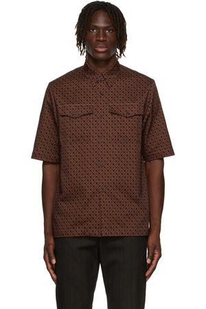 Dries Van Noten SSENSE Exclusive Burgundy Gabardine Short Sleeve Shirt