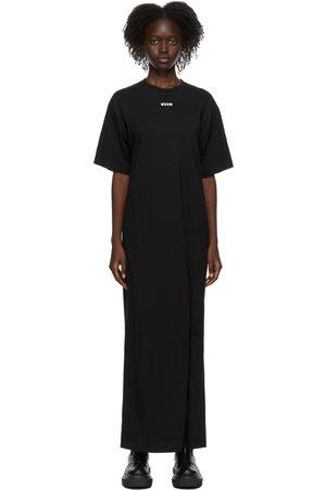 Msgm SSENSE Exclusive Black Mini Logo Dress