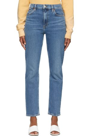 RE/DONE Blue Comfort Stretch 70s Straight Jeans