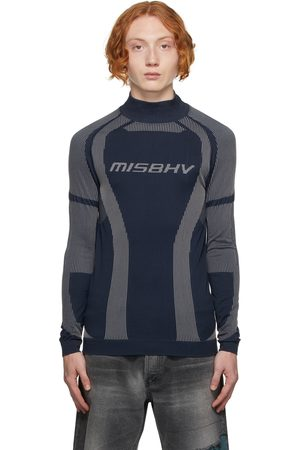 MISBHV Men Long sleeves - Navy & White Active Classic Long Sleeve Top