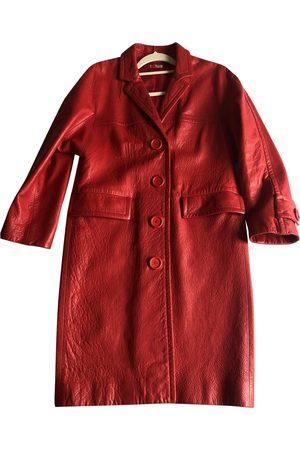Miu Miu Women Trench Coats - Leather trench coat