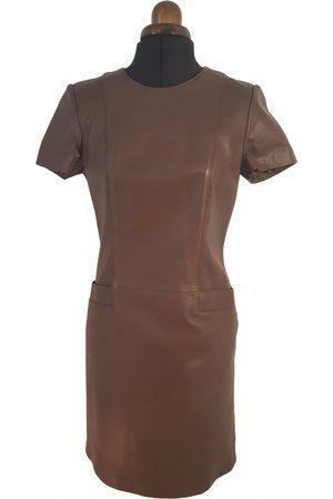 Caroline Biss Leather mid-length dress