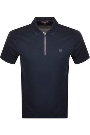 Michael Kors Half Zip Polo T Shirt Navy
