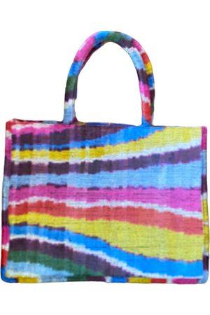 Women Luggage - Artisanal Rainbow Silk Ikat Tote PUNICA