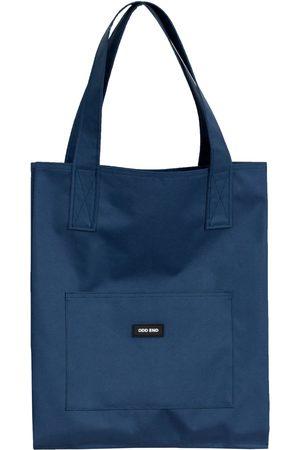 Women Luggage - Artisanal Navy Cotton Tall Upcycled Tote Bag ODD END Studio