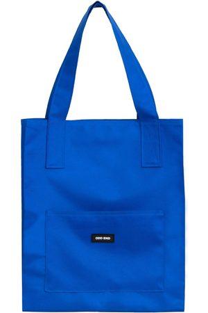 Women Luggage - Artisanal Royal Blue Cotton Tall Upcycled Tote Bag ODD END Studio