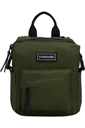 Women Luggage - Green Fabric Lamont Front Pocket Backpack XS CONSIGNED
