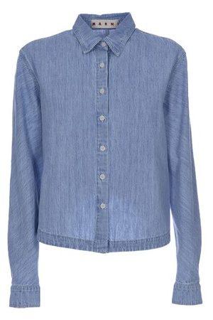 Marni Women Denim - Chambray denim shirt