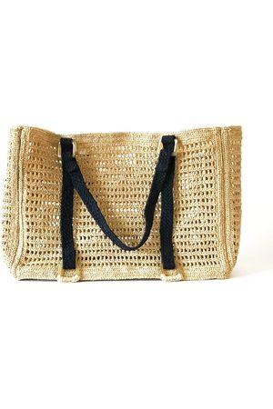 Artisanal Natural Cotton Agnes Beach Bag- Large MARAINA LONDON