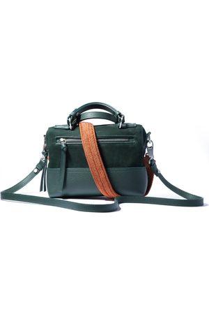 Luggage - Artisanal Green Cotton The Baby Boxer Avo Papaya Strap Small HALM