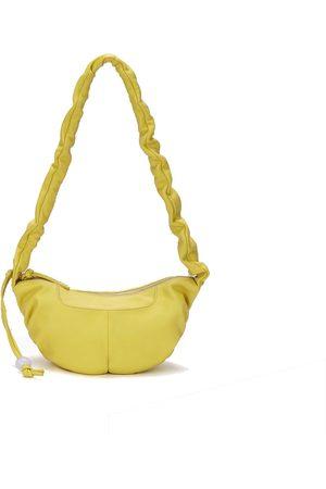 Yellow Leather Kech Crossbody - Baby orYANY