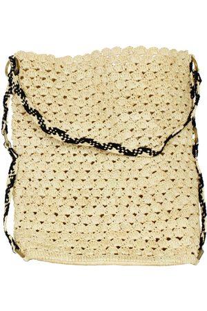 Artisanal Natural Cotton Isabel Raffia Beach Tote Bag MARAINA LONDON