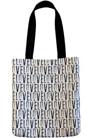 Women Luggage - Black Leather Love Print ette Tote Bag CG Loves