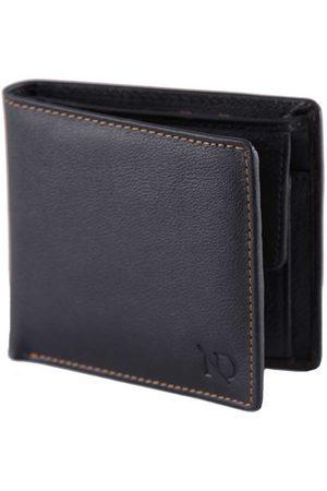 Men Wallets - Men's Black Leather Arthur Coin Wallet N'Damus London