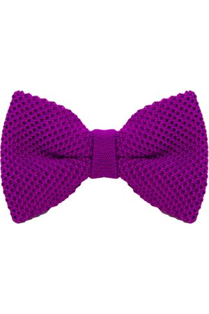 Men's Artisanal Purple Silk Solid Knitted Bow Tie 40 Colori