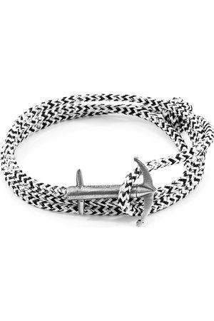 Men Bracelets - Men's Artisanal White Noir Admiral Anchor Silver & Rope Bracelet ANCHOR & CREW