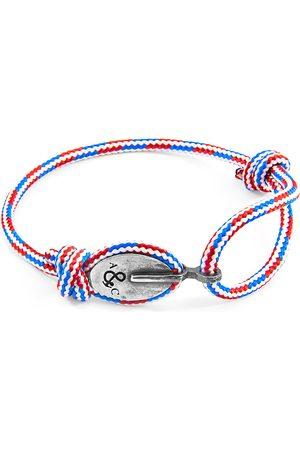 Men Bracelets - Men's Artisanal Blue Project-Rwb Red White & London Silver & Rope Bracelet ANCHOR & CREW