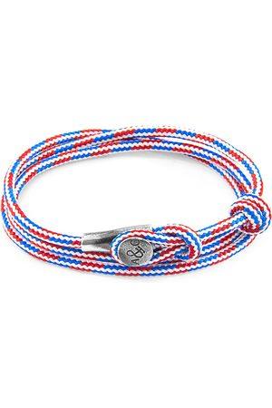 Men Bracelets - Men's Artisanal Blue Project-Rwb Red White & Dundee Silver & Rope Bracelet ANCHOR & CREW