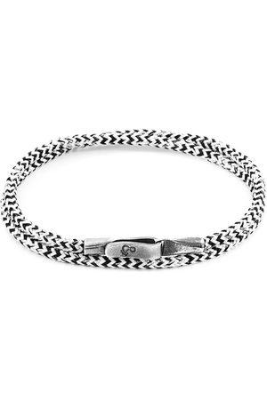 Men Bracelets - Men's Artisanal White Noir Liverpool Silver & Rope Bracelet ANCHOR & CREW