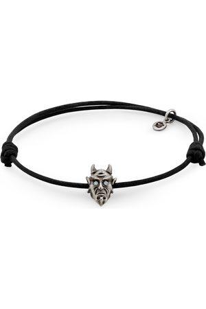 Men's Silver Cotton Devil Bracelet Snake Bones