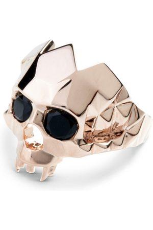 Men Rings - Men's Rose Gold Rhodium Vampire Skull Ring Kasun