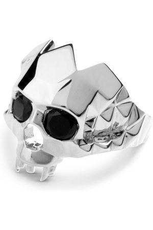 Men's Silver Rhodium Vampire Skull Ring Kasun