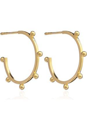Women's Gold Medium Punk Hoop Earrings Rachel Jackson