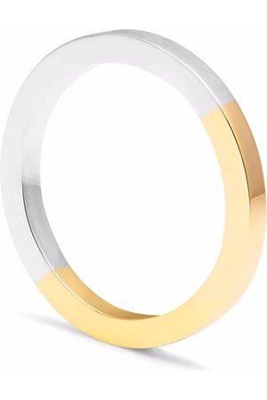 Men Rings - Men's Artisanal Silver Recycled 9K Yellow Gold/ Square Band Myia Bonner