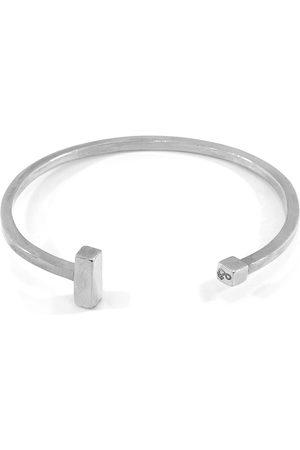 Men Bracelets - Men's Artisanal Silver Faris Square Midi Bangle ANCHOR & CREW
